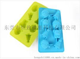 食品级硅胶8连圣诞老人冰格 制冰器 硅胶创意冰格