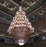 多头水晶吊灯 灯罩水晶吊灯 锌合金吊灯