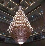 多頭水晶吊燈 燈罩水晶吊燈 鋅合金吊燈