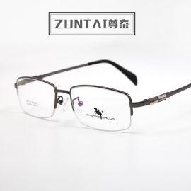 厂家直销2016时尚合金半框眼镜架眼镜框现货批发商务可配近视老花