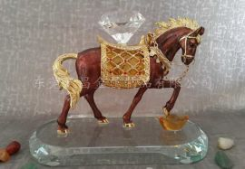 铅锡合金马摆件 滴油动物工艺品 金属马商务礼品摆件