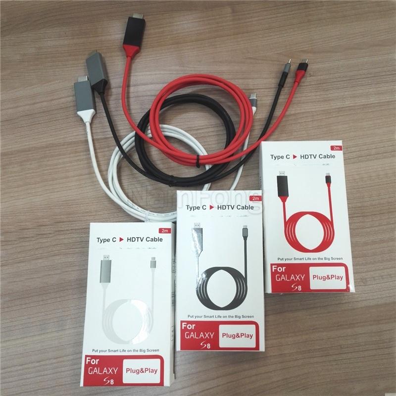 厂家直销 环保PVC Type c转HDMI转接线
