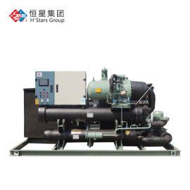 宏星满液式水源热泵机组,螺杆水源热泵