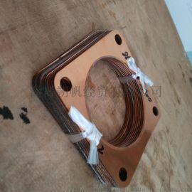 铜包石墨排气管后垫片后垫片 淄博淄柴8L250-16-A400后垫片