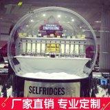 亞克力透明大圓球罩聖誕大球商場裝飾空中吊飾