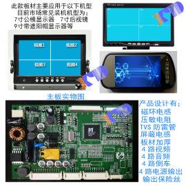 大巴监控显示器4路视频显示器