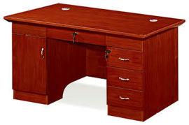 1451款1.4米油漆辦公桌 胡桃木皮綠色環保家具