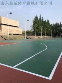 山东厂家施工塑胶篮球场 篮球场施工 篮球场地胶