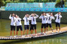 重庆网红桥定做多彩的充气垫子超多生意好玩