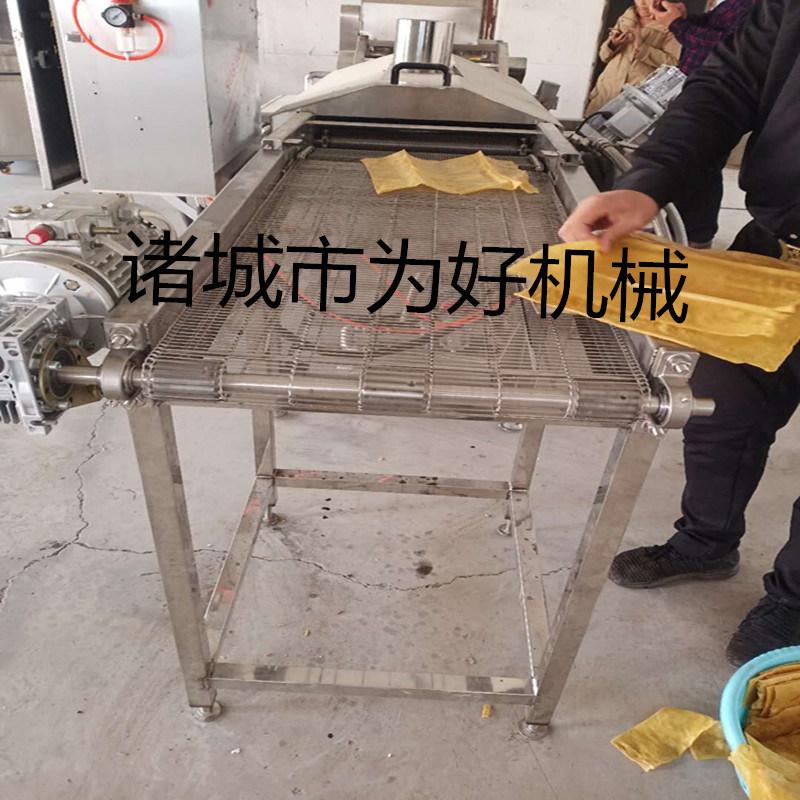 全自动侧翻式面片油炸加工生产线