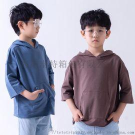 海阳DAY KIDS儿童连帽纯棉T恤