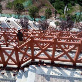 塑木栏杆、护栏、塑木护栏扶手厂家