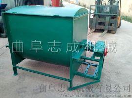 志成大型养殖场饲料加工机械一吨卧式草料搅拌机