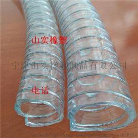 PU聚醚型聚氨酯食品级不锈钢丝平滑管DN32mm无毒无味不锈钢丝塑料管抽酒管