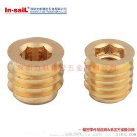 In-saiL TT型塑胶铜嵌件自攻铜螺母直销定制