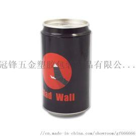 定做马口铁易拉罐圆形假可乐罐糖果包装铁盒