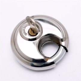 專業設計圓餅鎖 高品質銅材質光盤掛鎖 自行車鐵鏈鎖