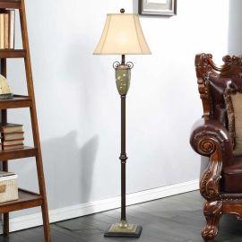 中式仿古 手绘欧式落地灯 美式田园创意 宜家复古客厅 卧室 书房地灯