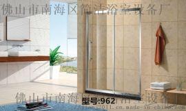 304不鏽鋼鋼化玻璃淋浴房 廣東佛山簡潔962淋浴房
