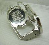 金屬開瓶器二維碼鑰匙扣/廣告二維碼鎖匙扣