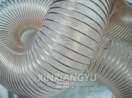 透明带镀铜钢丝增强管,吸尘管,耐磨软管