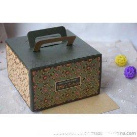 6寸8寸10寸蛋糕盒牛皮纸手提蛋糕包装盒烘焙芝士西点包装盒子批发