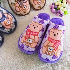 D602超柔绒保暖棉拖鞋