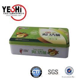 東莞廠家製造橄欖油鐵罐//爽口杏脯長方形鐵盒//食品鐵盒