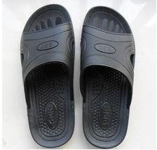 软底防静电拖鞋黑SPU底拖鞋无尘室净化洁净拖鞋生物制药拖鞋