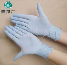 广州一次性丁腈手套 9寸蓝色丁晴手套