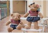 深順興毛絨玩具廠,毛絨玩具制作牛仔情侶泰迪熊