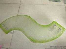 S异形弯曲钢化玻璃板,玻璃菜板,玻璃制品