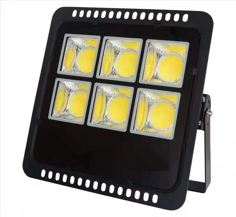 户外Led压铸投光灯外壳 300W魔方投光灯集成聚光反光杯一体投光灯