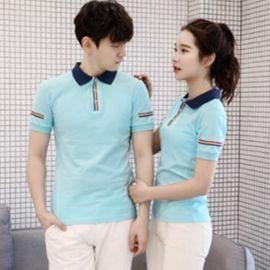 男式T恤韩版高中学男女大学生情侣装上衣棉短袖T恤衫班队会服定做