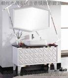 批发直销朗彩卫浴8005实木浴室柜 欧式田园落地浴室柜 高亮光钢琴烤漆卫浴镜浴室镜