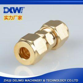 厂家直销**黄铜世伟洛克卡套接头 液压气动管路连接件 实验室设备配件