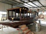 传统老厂手工定制南湖红船木船模型景观装饰木船