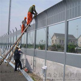 桥梁金属隔音板生产,高速公路隔音屏障加工