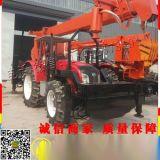 16T吊车改装挖坑机 吊车挖坑机 拖拉机吊车钻孔机