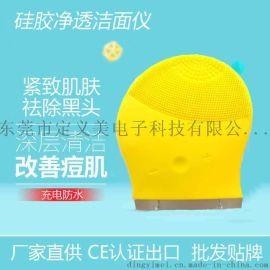 东莞厂家批发硅胶洁面仪 去黑头毛孔清洁洗脸刷 出口货源