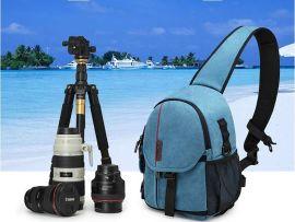 深圳市手袋厂订做便捷斜背防水帆布相机包单反胸包单肩斜挎摄影包
