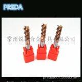 PREDA HRC60度进口超硬度质合金钨钢4刃立铣刀