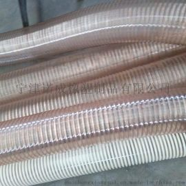 PU钢丝伸缩管,PU钢丝伸缩吸尘管,镀铜钢丝排风软管