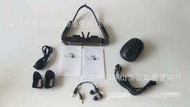 智能眼镜拍照摄像3D视频眼镜无线WIFI多功能VR一体机头戴式显示器