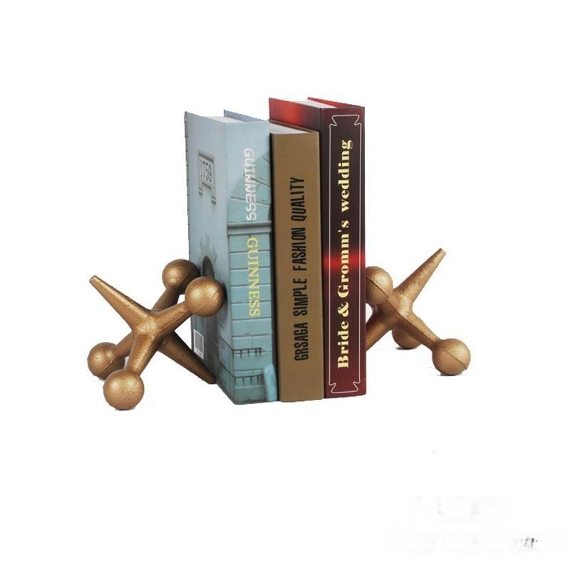 歐式創意書房擺件創意書立書擋桌面小書架歐式工藝品包郵一對裝
