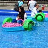 特价儿童手摇船电动船充气水池大型游泳池水上电瓶船