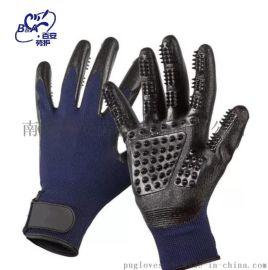 厂家直销外贸  手套宠物环保型硅胶猫狗梳理