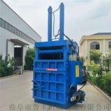 牡丹江自動廢金屬壓塊機廢塑料立式液壓打包機圖片