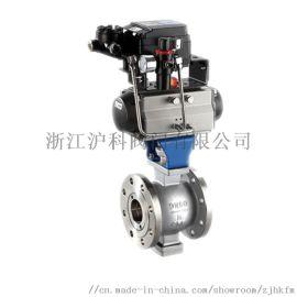 供应VQ647F气动V型法兰球阀厂家