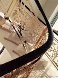 瀏陽市金雕刻鋁板樓梯護欄  銅藝雕花鏤空護欄